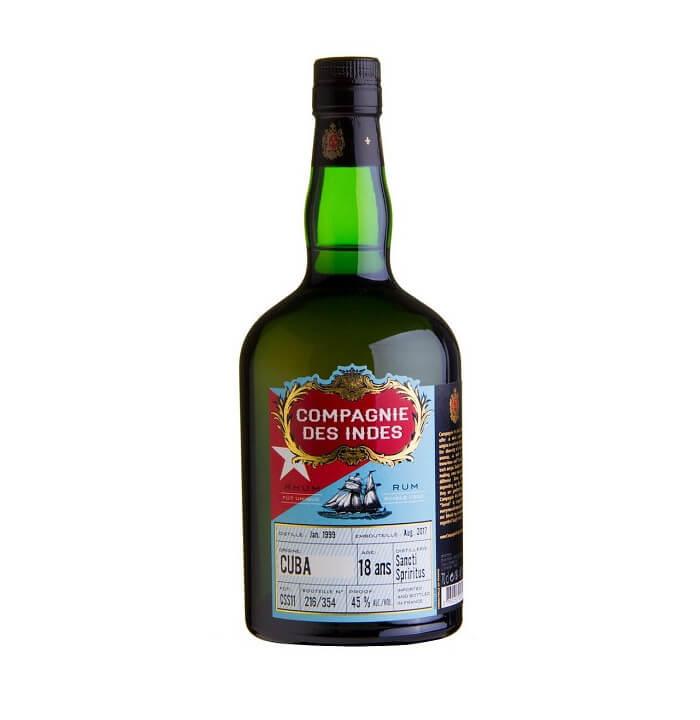 Compagnie des Indes CUBA Sancti Spiritus Single Cask Rum 18 ans