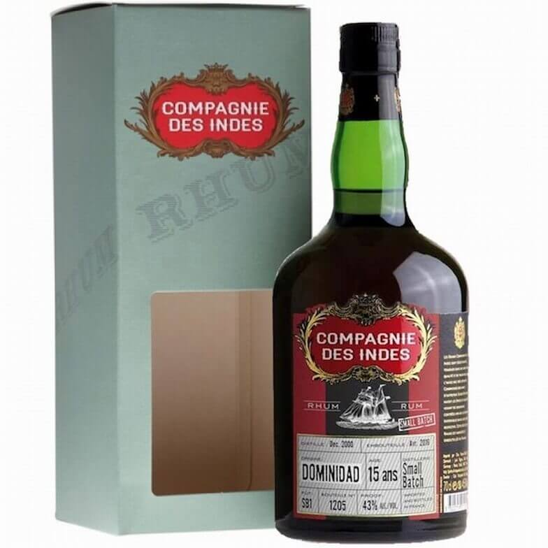 Compagnie des Indes Dominidad Single Cask Rum 15 ans