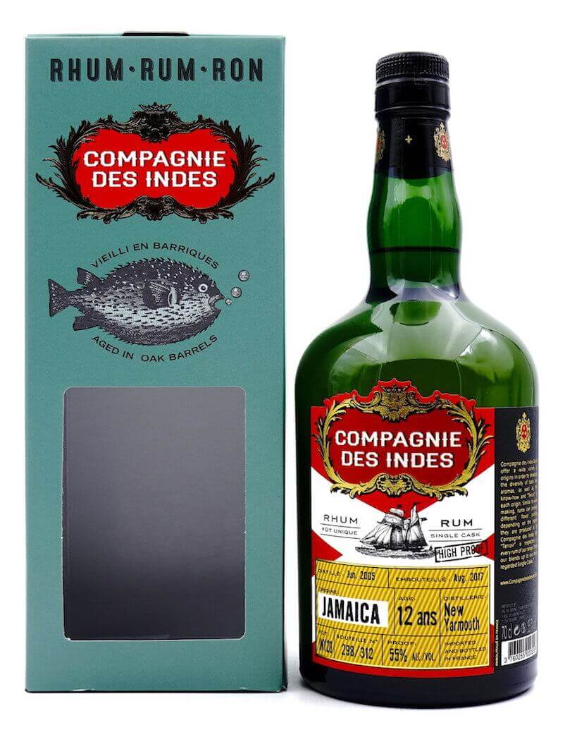 Compagnie des Indes JAMAICA New Yarmouth Single Cask Rum 12 ans