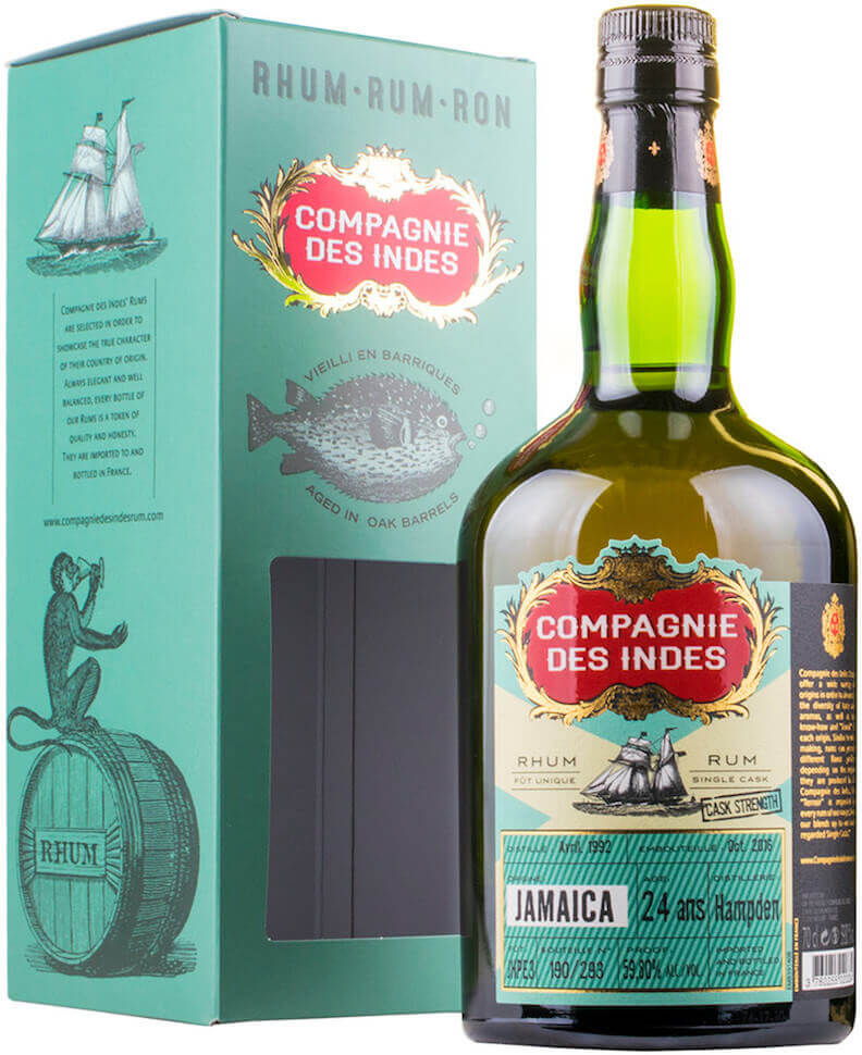 Compagnie des Indes JAMAICA Single Cask Rum 24 ans