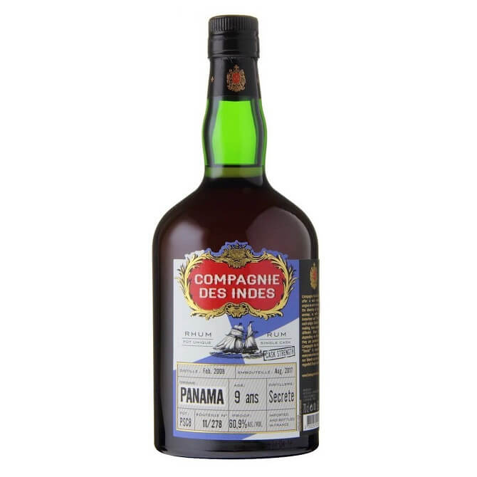 Compagnie des Indes PANAMA Secrete Single Cask Rum 9 ans Cask Strength