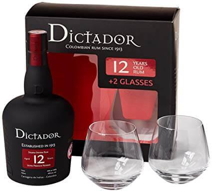 Dictador 12 Jahre Ultra Premium Reserve mit 2 Gläsern