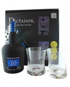 Dictador 20 Jahre mit 2 Gläsern