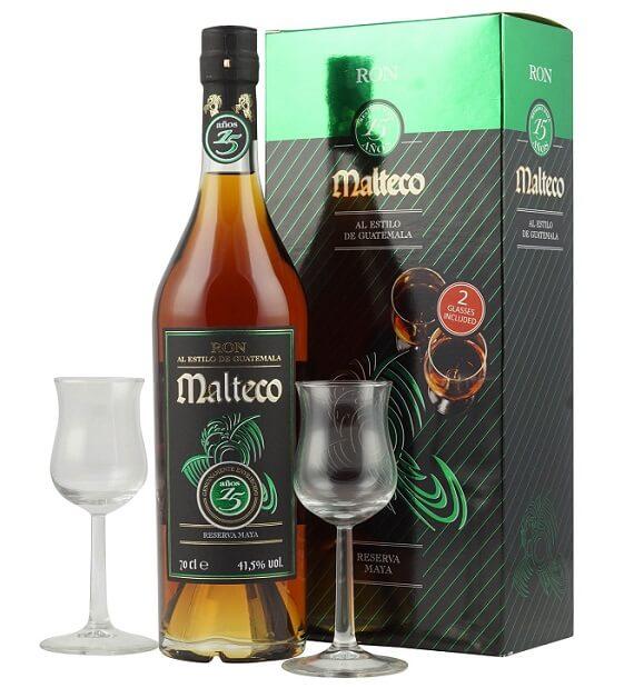 Malteco 15 Jahre mit 2 Gläsern