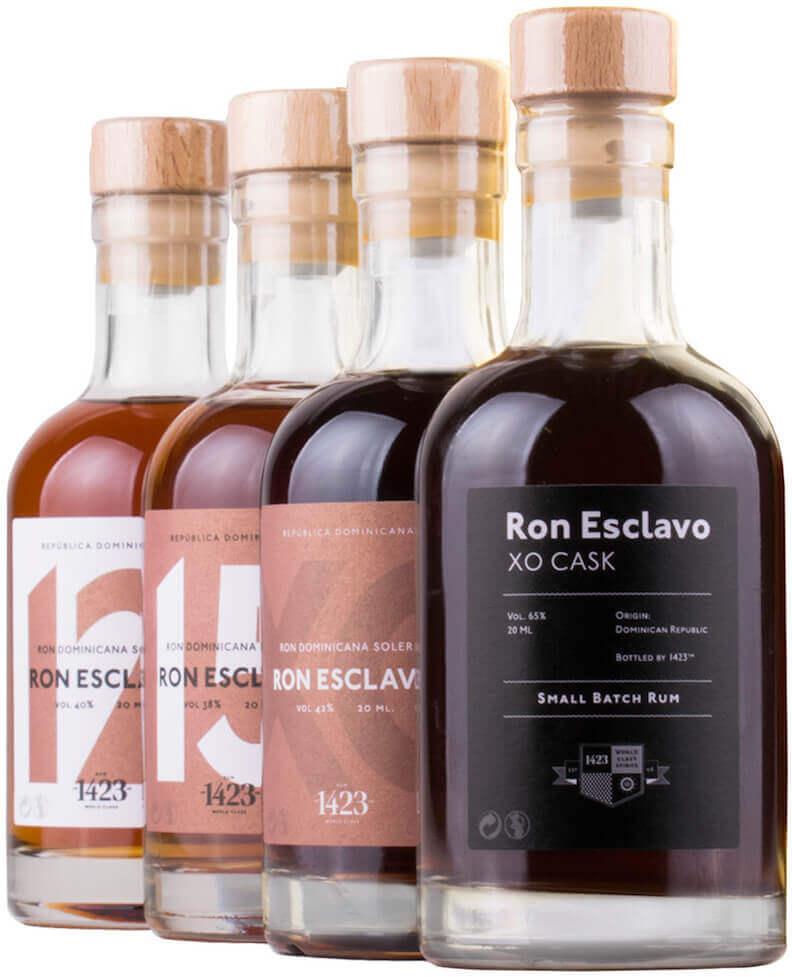 Ron Esclavo Set 4 x 20cl